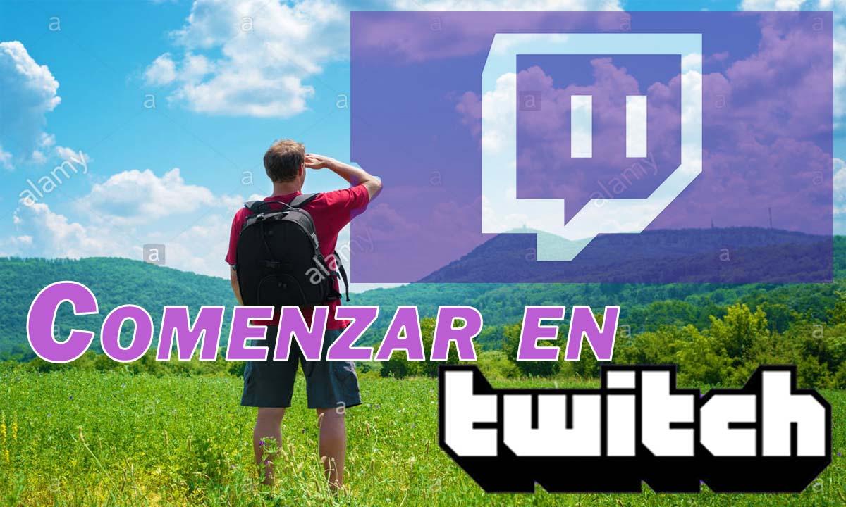 comenzar en Twitch