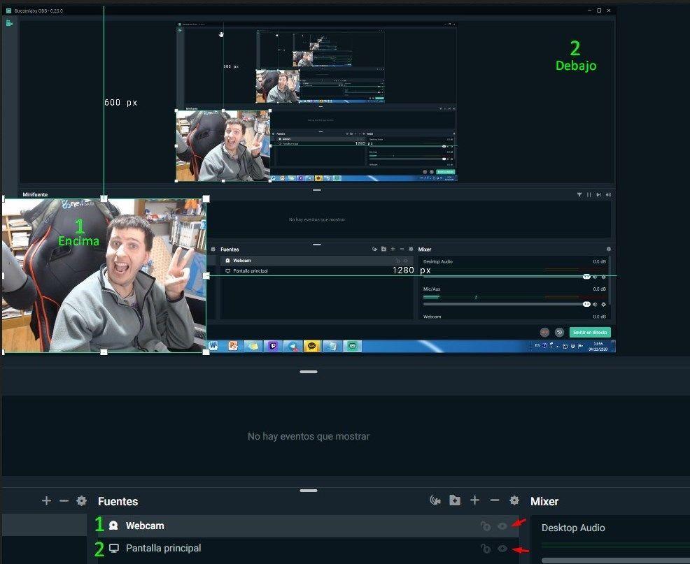 capturar webcam en streamlabs 2