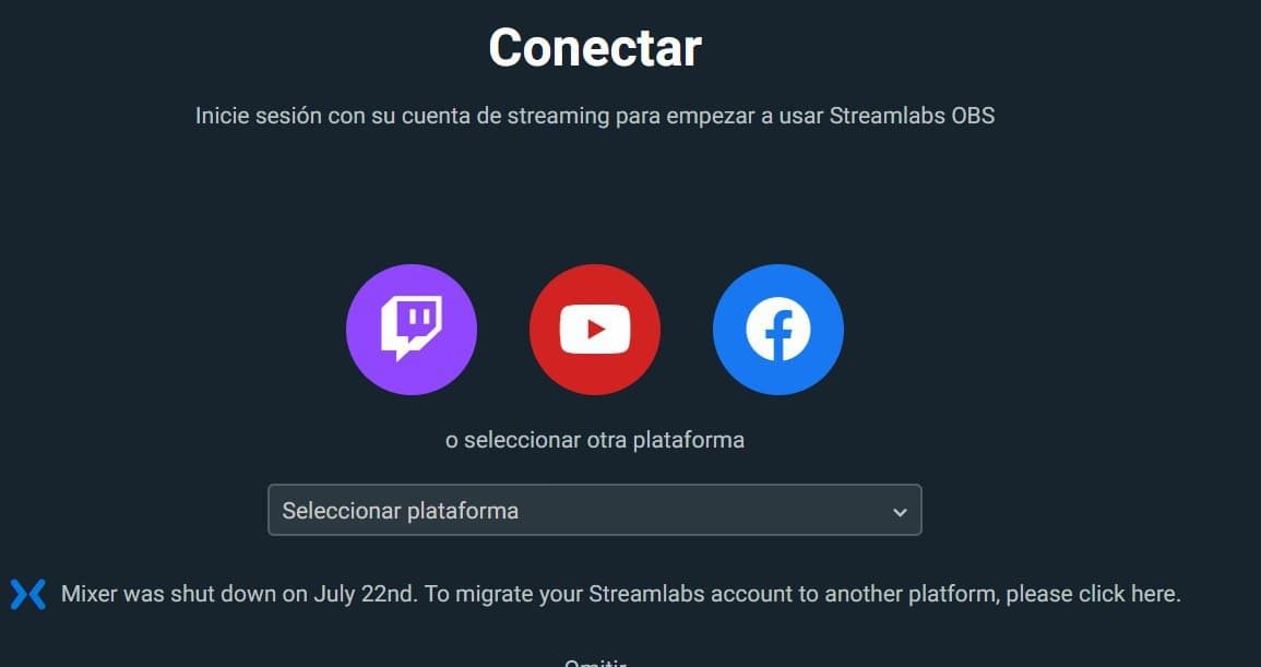 conectar streamlabs con Twitch
