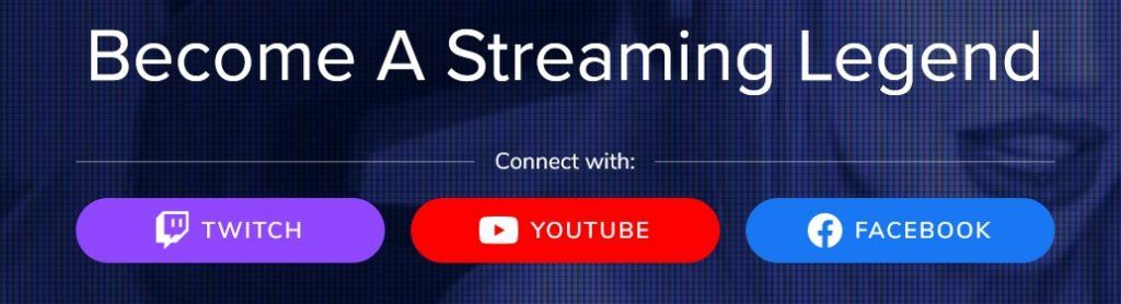Streamelements acceder con youtube facebook twitch