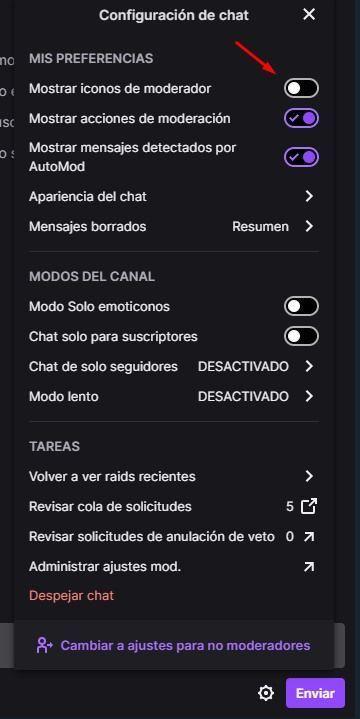 configurar chat de Twitch