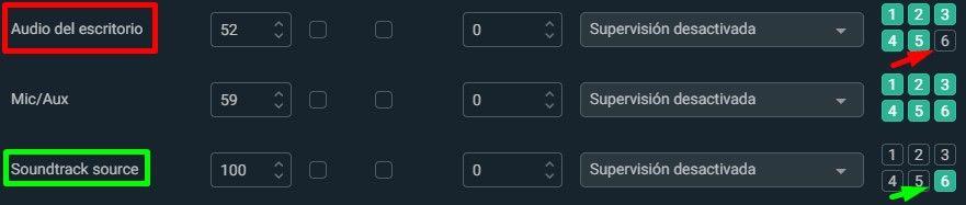 soundrack seleccionar y deseleccionar twitch