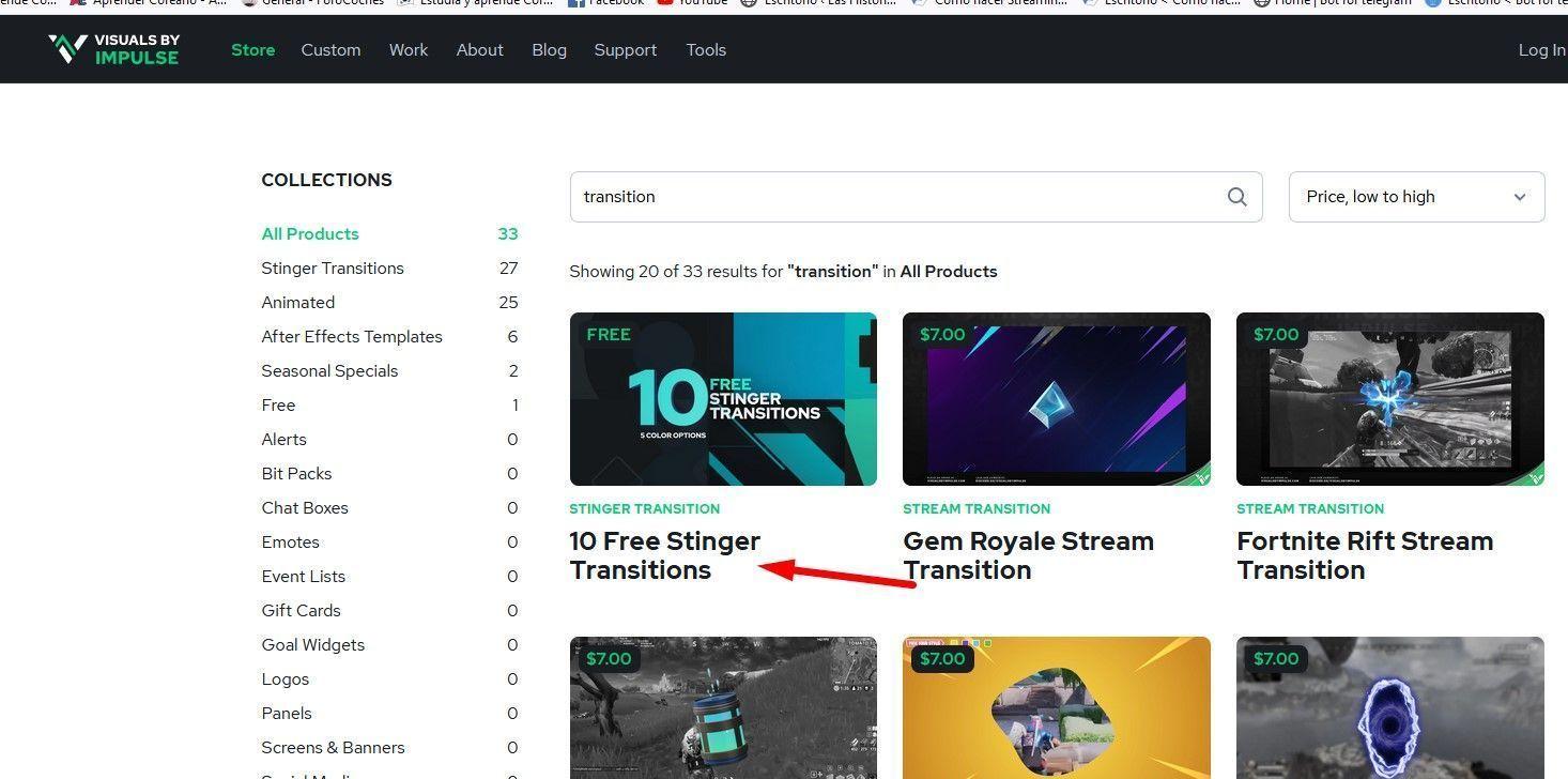 transiciones Visual by impulse gratis
