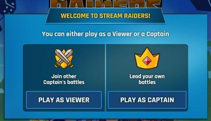 Stream raiders capitan o viewer
