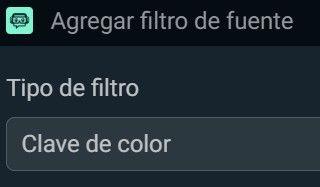 clave de color filtro